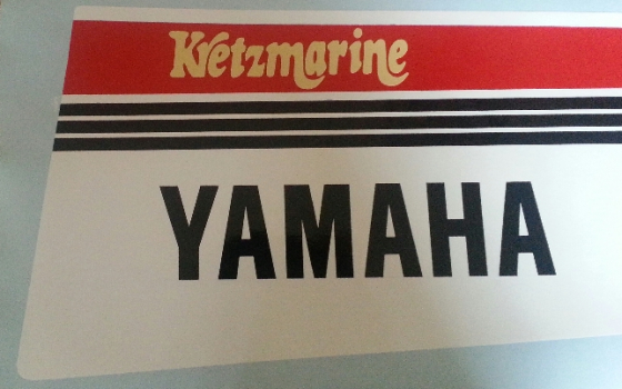 Pair off 1980's Yamaha cowl vinyl decals graphics