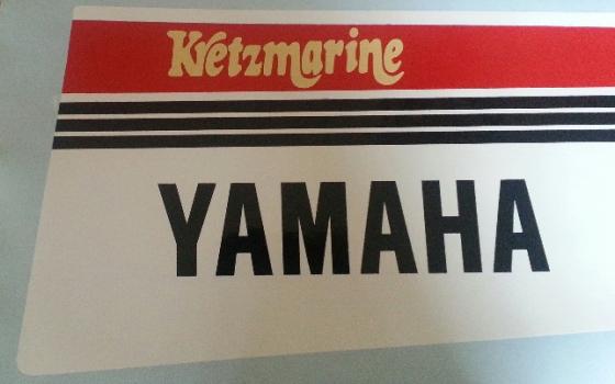 Pair off 1980's Yamaha cowl vinyl decals graphics