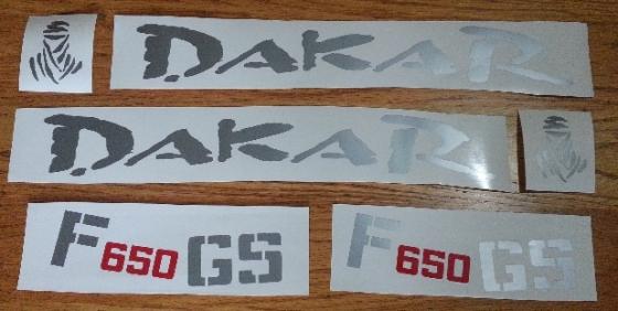 BMW F650 GS Dakar decals stickers graphics kits
