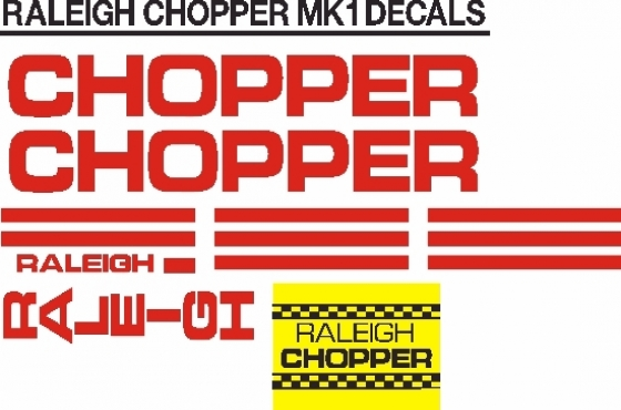 Raleigh chopper decals stickers graphics sets