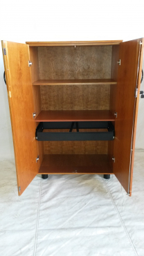 Cherry veneer 2 door cabinet