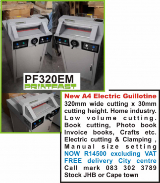 Electric a4 paper guillotine new cuts paper business cards electric a4 paper guillotine new cuts paper business cards invoice books flyers etc colourmoves Gallery