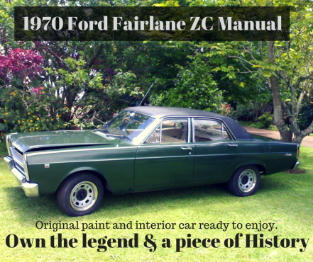 1970 ford fairlane zc v8 african oz muscle car rare manual original paint and interior car. Black Bedroom Furniture Sets. Home Design Ideas