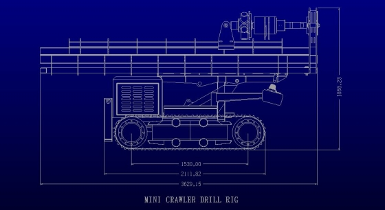 DRILL RIG MINI CRAWLER DRILL RIG FOR WATER BOREHOLES