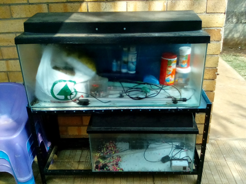 2 fish tanks with accesories
