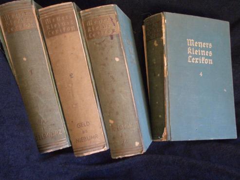 Meyers Kleines Lexikon – 9th issue - 1933/1934 (four volumes)