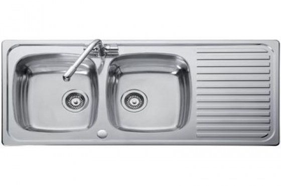 DOUBLE END BOWL SINK INCL FITTINGS R620