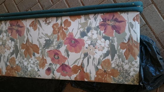 Beautiful Poppie floral design curtains with inner lining for protection.