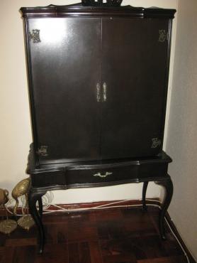Dark Wood Liquor Cabinet