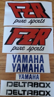 Yamaha FZR Exup genesis and deltabox decals stickers kits