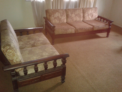 Solid Mahogany 7 seater Lounge Suite