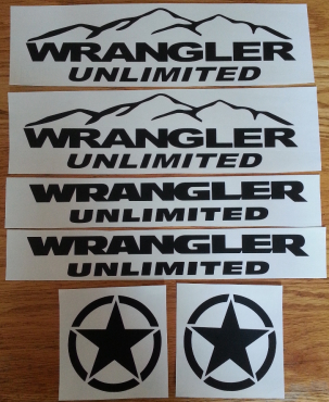 Wrangler Unlimited graphics decals kits