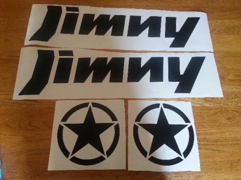 Suzuki Jimny graphics decals