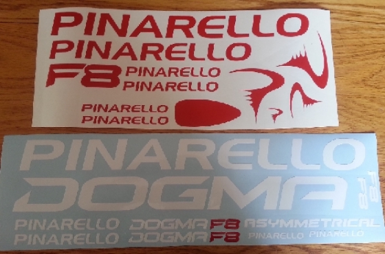 Pinarello frame and rim decals graphics sticker sets