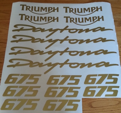 Triumph Daytona 675 675r Decals Stickers Kits Junk Mail