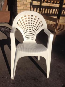 Single white chair