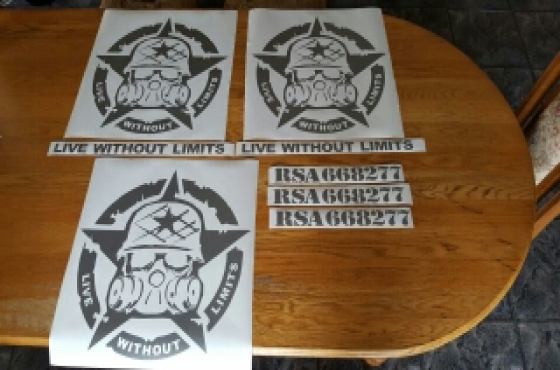 Jeep decals graphics all designs and colours