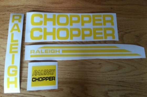 Raleigh chopper mk1 and mk2 decal kits