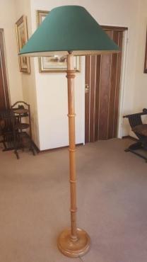 Oak standing lamp