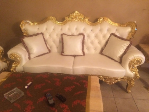 Swell Royal Furniture Sofa Set 24K Gold Leather Junk Mail Beutiful Home Inspiration Cosmmahrainfo