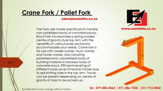 Crane Fork  Pallet Fork