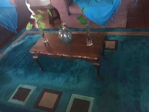 Donker hout koffie tafel