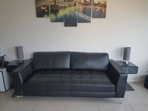 Oxford 3 Seater Black Couch from @home