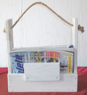 Magazine Holder. Solid Wood, Unique, handmade, beautiful and one of a kind. Very rustic.