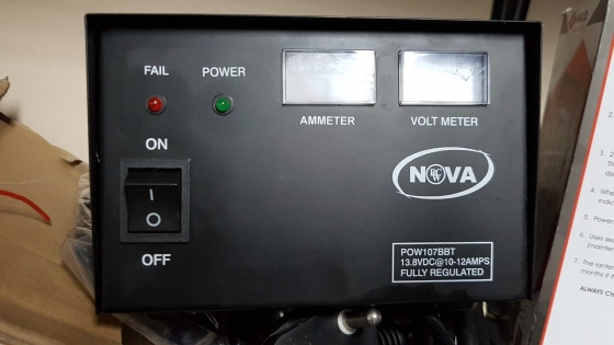 Power supply 12vdc regulated 12amps