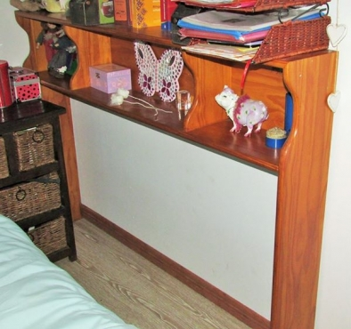 Bedroom headboard/bookshelf