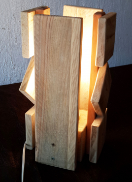 Table Lamp. Solid Wood, Unique, handmade, beautiful and one of a kind