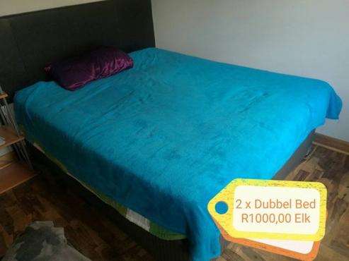 2 x Dubbel beds, te koop.