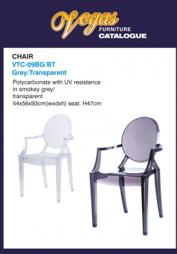 Vegas Transparent Chairs - Brand new from Factory