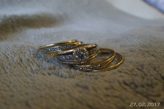Yellow Gold Ring Set With Diamonds Wedding Ring Engagement Ring
