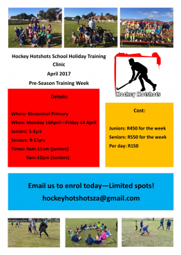 April School Holiday Sports Clinic - Rugby, Hockey & Netball