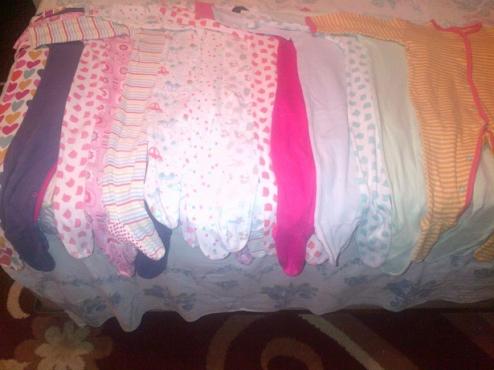 14 Baby sleepsuits