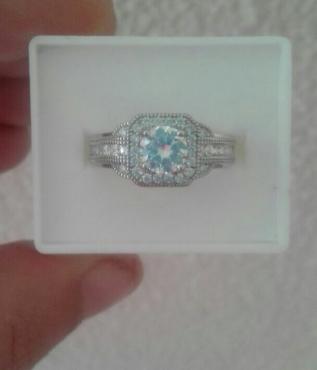 Genuine Italian Silver Wedding Ring