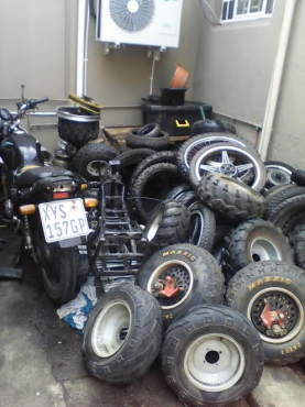 Bike Of road and many more stripping for spares Finance available on spares and repairs above R2000