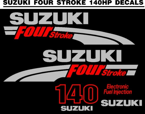 DF 140 HP motor cowl graphics decals kits