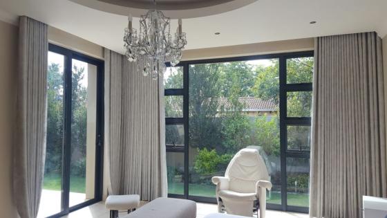 Custom made furniture, curtains