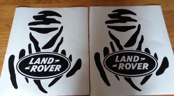 Pair off  Land Rover Dakar man door decals