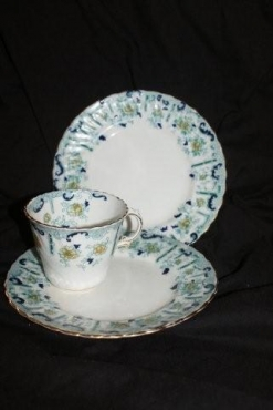 ANTIQUE HAND PAINTED BONE CHINA TEA SERVICE