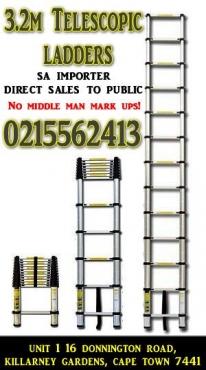 3.2m foldable telescopic ladder