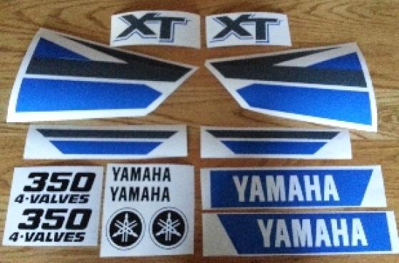 Year 2000 Yamaha XT 350 decals stickers graphics kit