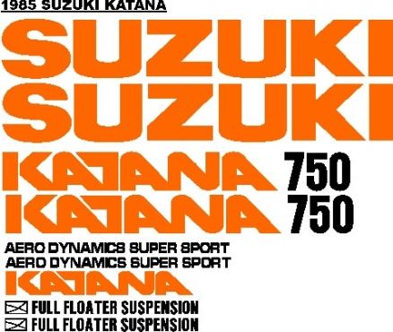 Suzuki Katana graphics stickers decals kits