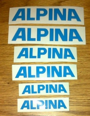 Alpina frame decals sticker kit
