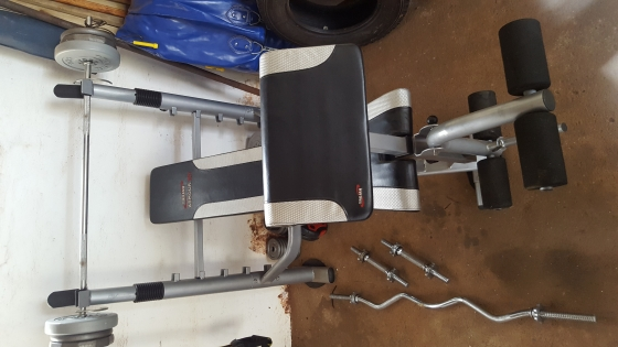 Gym equipment..Weights..Bench