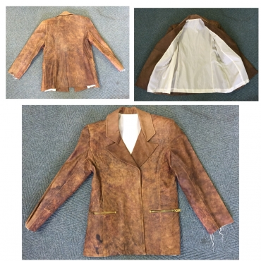 Mens handmade Cows Leather Jacket Size Large