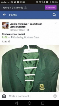 Newton School Blazer for sale.