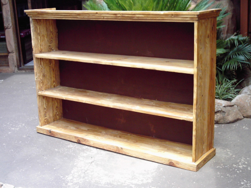 Solid Pine Bookshelve (1560x330x1050)